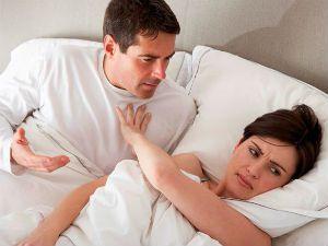 Женщина отказывает мужчине в интиме